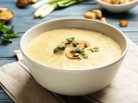 Постна крем супа от гъби Кладница и печурки - снимка на рецептата